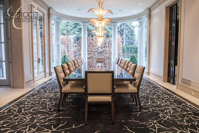 Custom Made Makar Ebony Art Deco Style Grand Dining Table