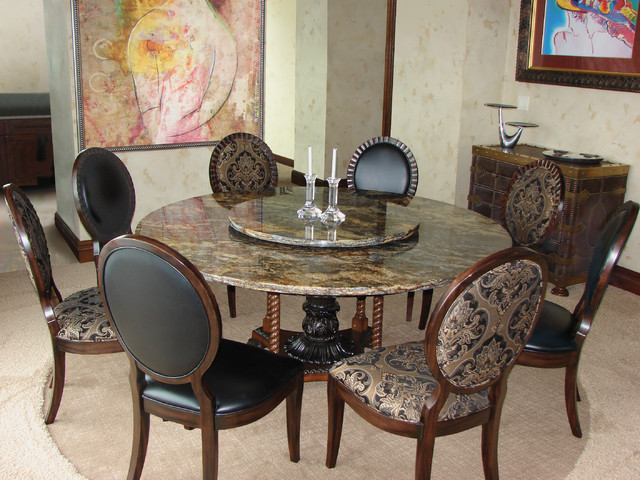 Custom-made natural stone table modern-dining-room