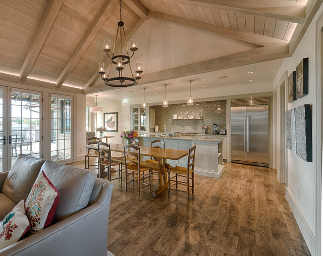 Open Concept Farmhouse Vaulted Ceiling House Design And