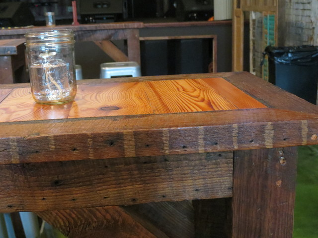 Custom Tables Made W Salvaged Antique Heart Pine