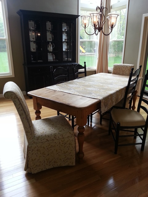 custom upholstered parsons chairs dining room chairs traditional