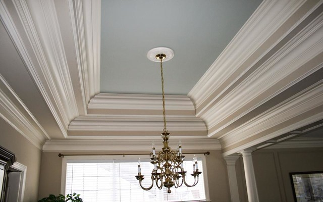 Custom wainscoting crown molding and trim in wilmington for Crown molding ideas dining room