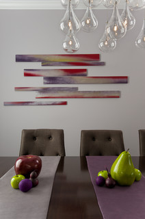 Custom wall art accessories contemporary dining room for Houzz dining room wall art