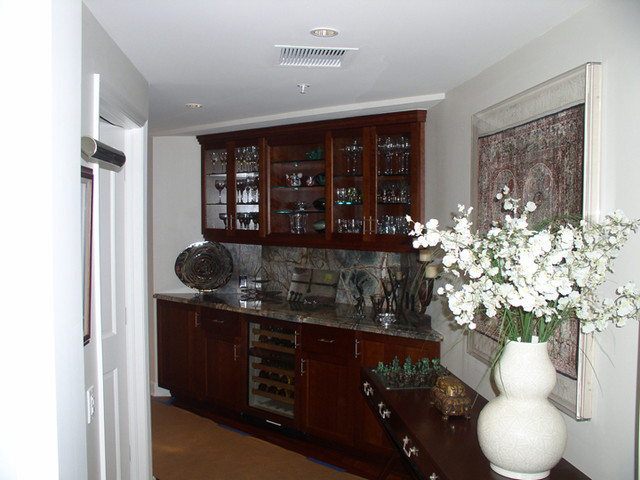 Dining Room Wall Unit Cool Custom Wall Units  Traditional  Dining Room  Miami Spears Decorating Design