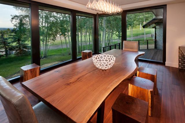 Incredible Custom Walnut Table And Bench Hudson Furniture Colorado Home Interior And Landscaping Sapresignezvosmurscom