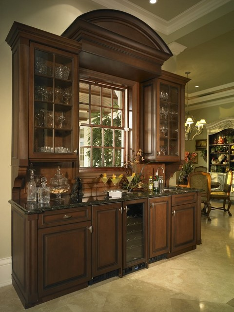 Custom Wet Bar Traditional Dining Room Miami By