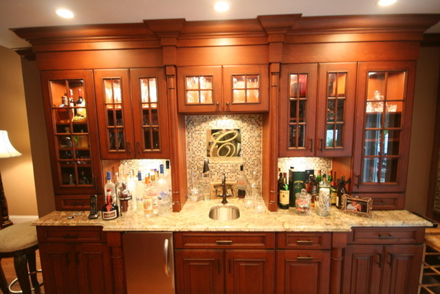 custom wet bar traditional dining room new york by vazac