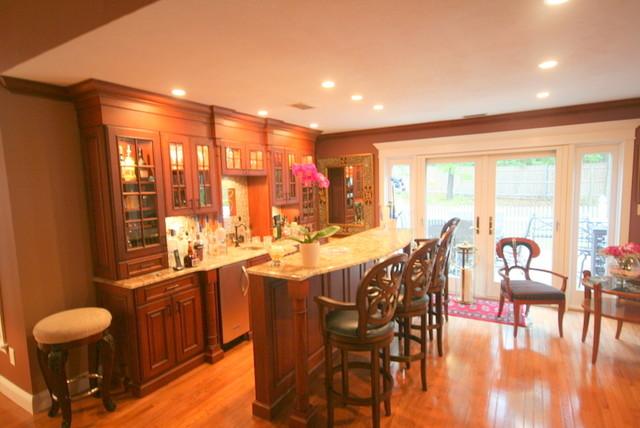 Custom Wet Bar traditional-dining-room