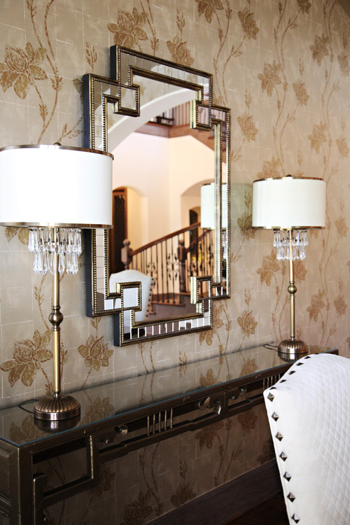 buffet lamps add bling to this sideboard photo credit dining
