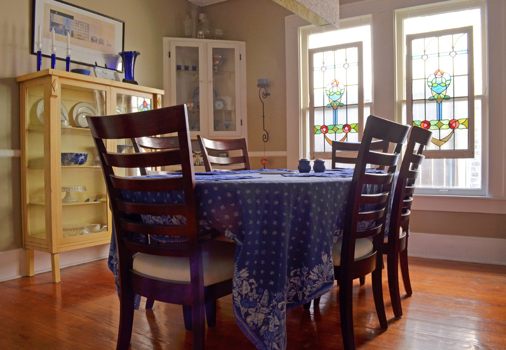 Eclectic dining room photo in Dallas