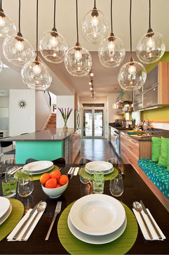 A Kitchen Not Afraid Of Color Going Bold With Lime And Seafoam Green Kitchn