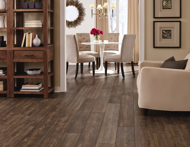 Dark Laminate Flooring | Mannington | Restoration Collection  modern-dining-room