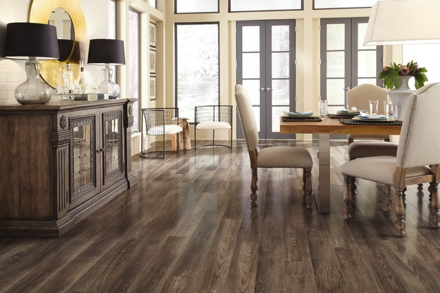 Charming Dark Laminate Flooring | Mannington | Restoration Collection Transitional  Dining Room