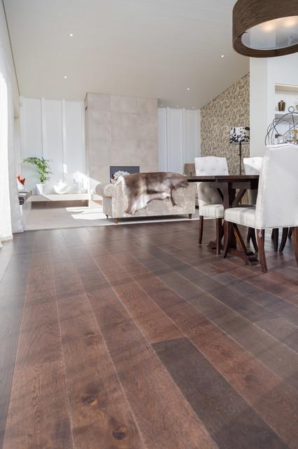 Dark Oak Floor Contemporary Show Home