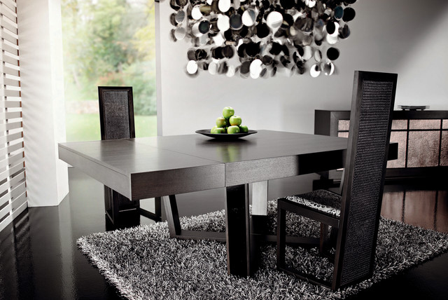 Dark Wood Dining Table By RattanWood Contemporary Dining Room