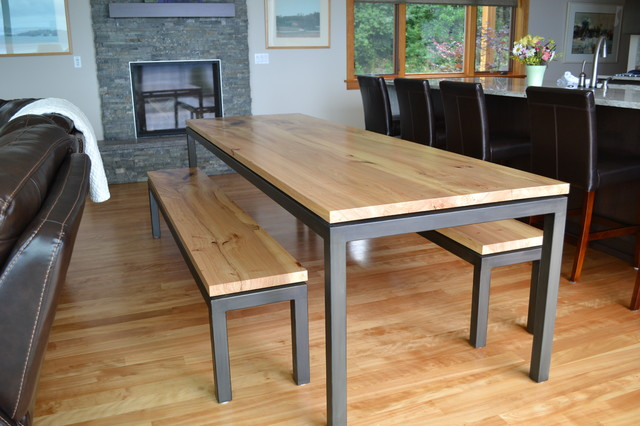Dash Point Custom Dining Table Contemporary Dining Room Seattle By Ma