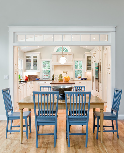 Transom windows for Dining room kitchen combination