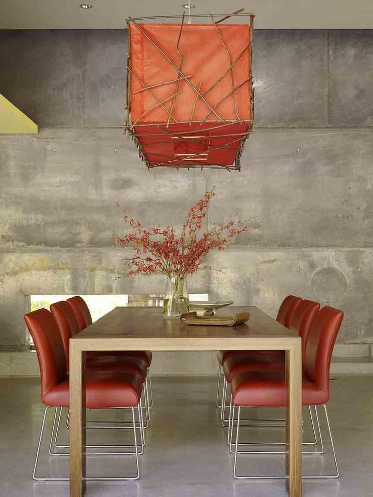 Trendy concrete floor dining room photo in San Francisco