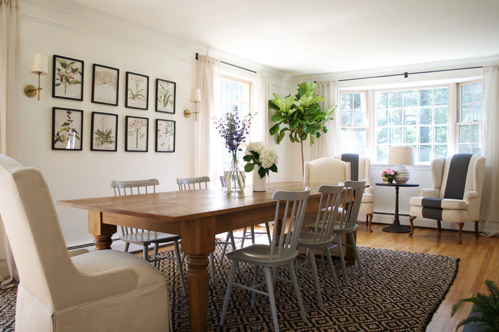Inspiration for a farmhouse dining room remodel in Other