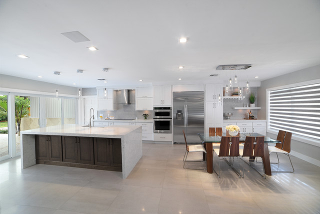 Daylight Modern Dining Room Miami By Kabco Kitchens