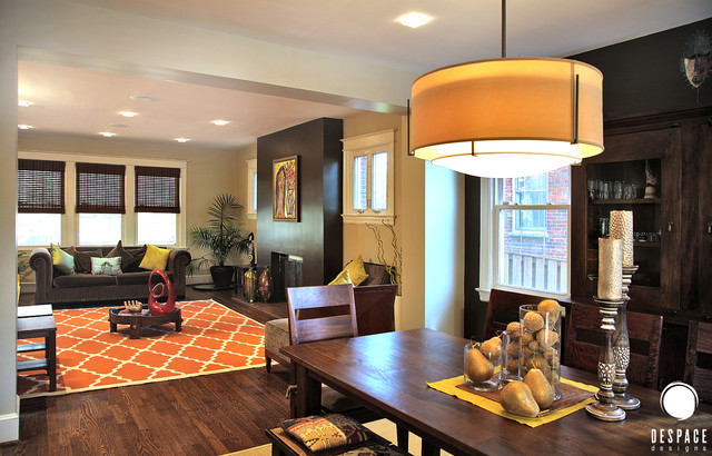 Dc colonial remake open plan transitional dining for Kitchen remake ideas