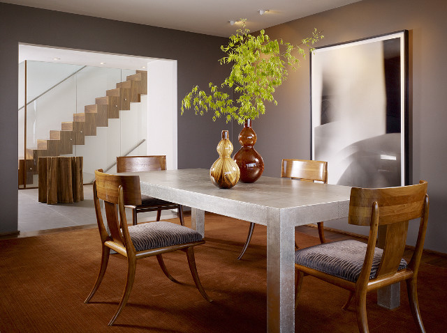 contemporary dining room by Geoffrey De Sousa Interior Design
