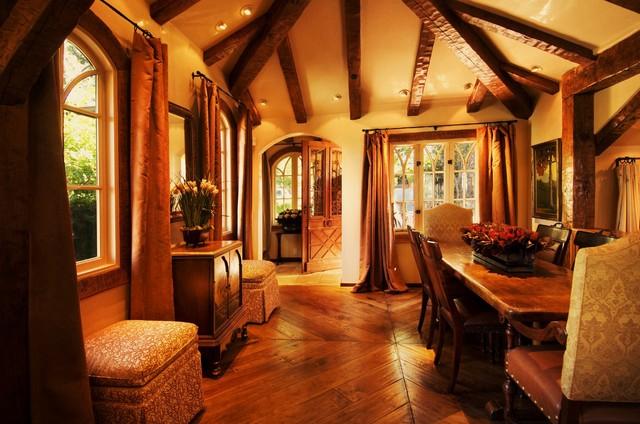 Debra Campbell Design rustic-dining-room