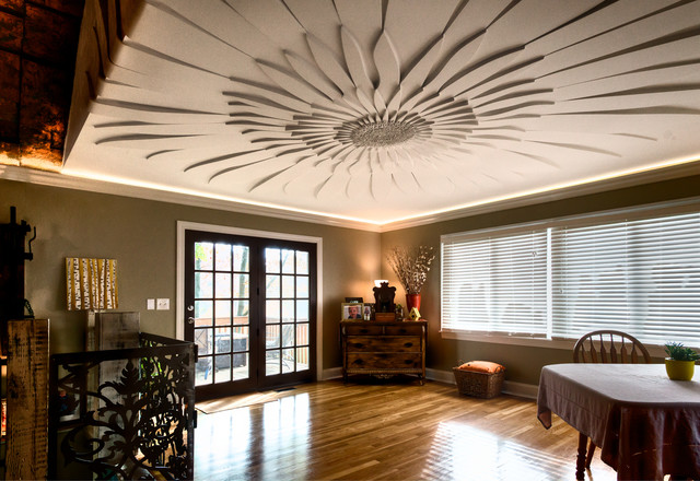 Decorative Ceilings Contemporary Dining Room Chicago