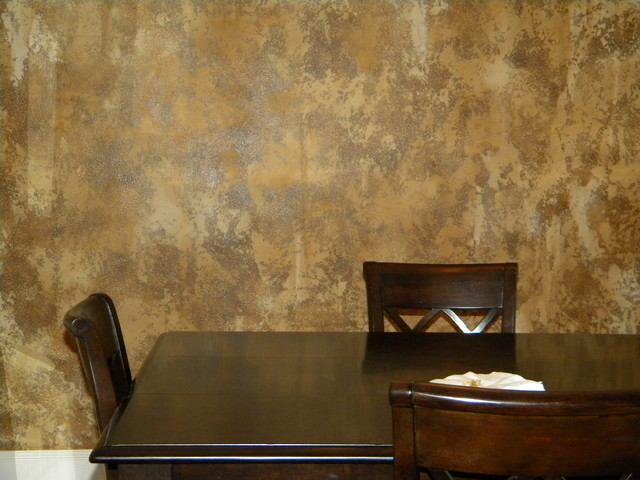 Decorative Faux Finish Traditional Dining Room