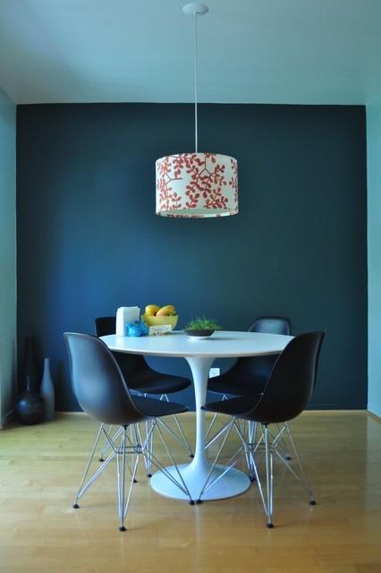 Deep Turquoise Dining Room Modern San