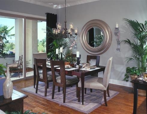 Del Webb Lincoln Hills contemporary dining room