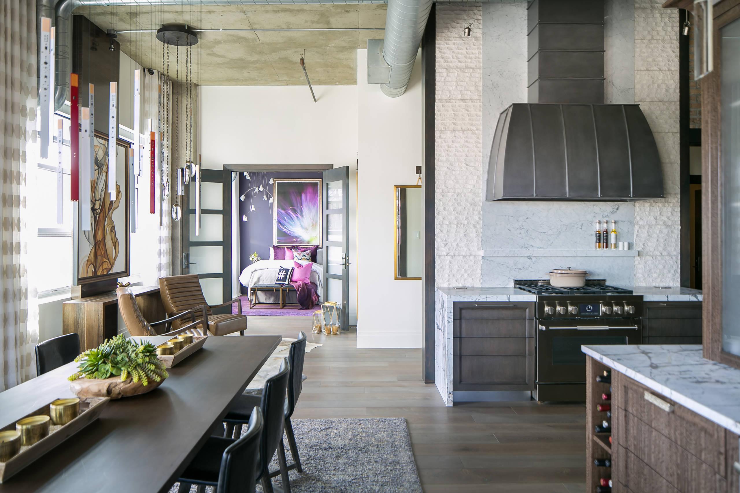 Denver Colorado Residence Loft Style DINING ROOM & KITCHEN
