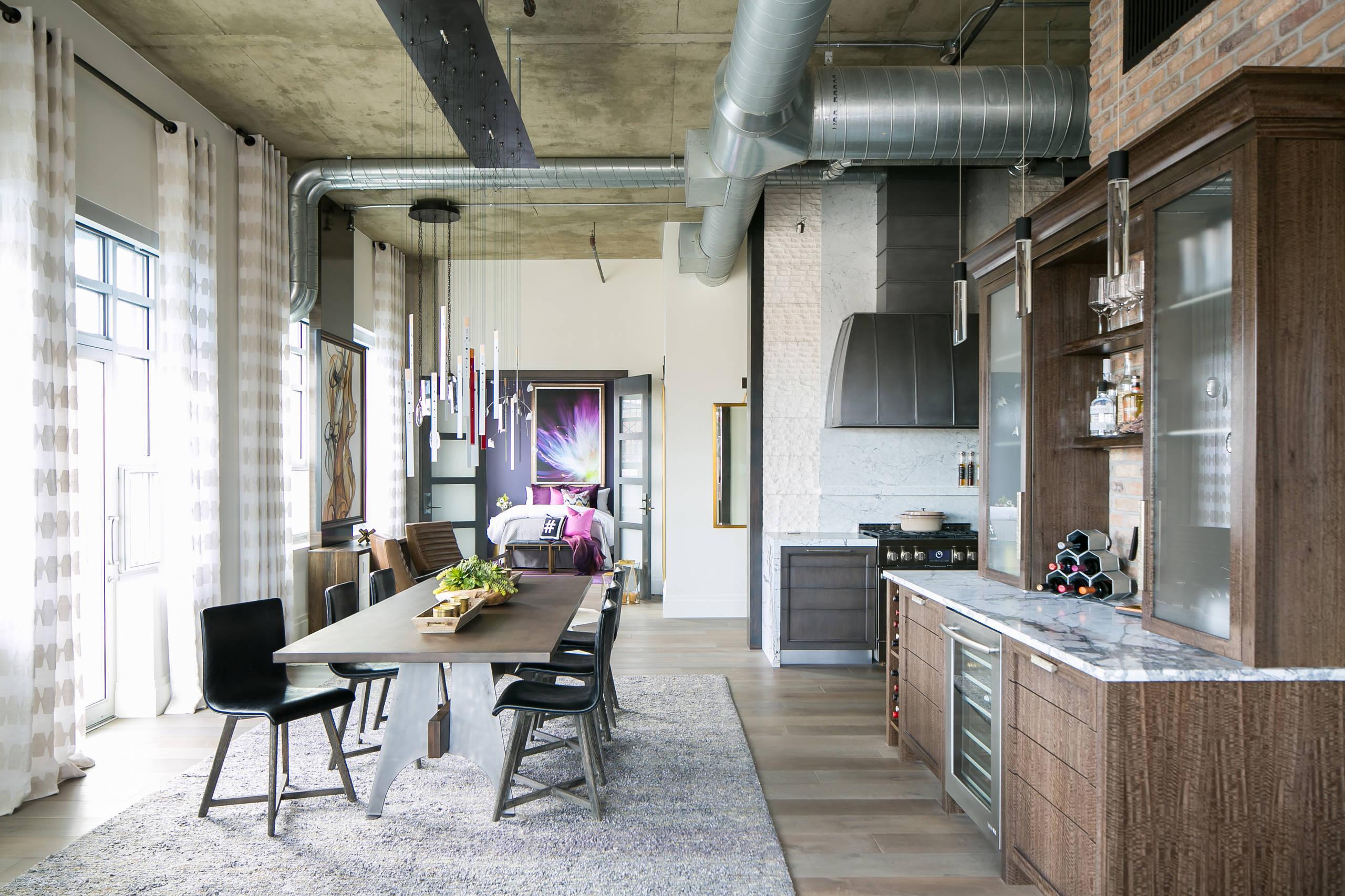Denver Colorado Residence Loft Style Dining room