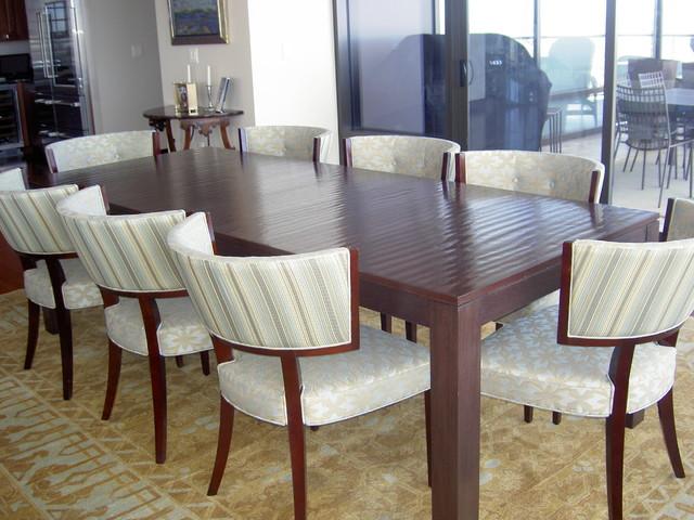 Denver dining table modern dining room denver by mori furniture design - Dining room furniture denver ...