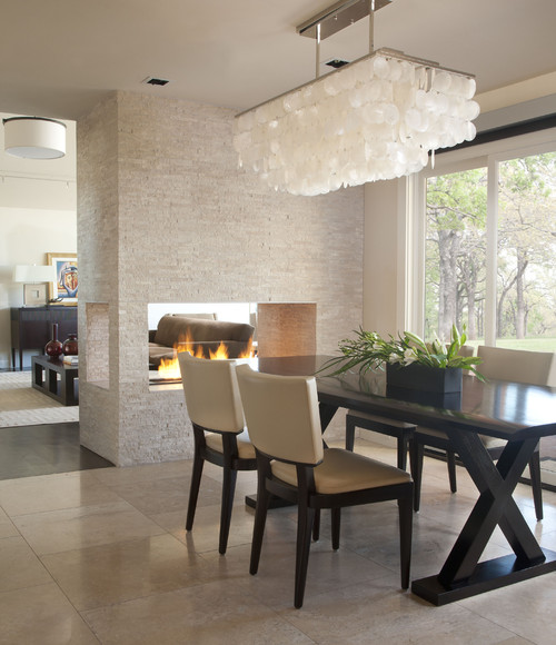 I Love This See Thru Fireplace In This Dining Room. It Can Be Enjoyed From  Both The Dining Room And Living Room.