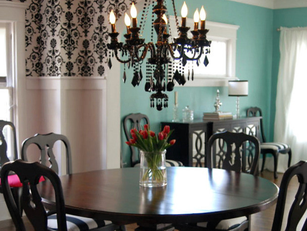 Design & Décor : Black-and-White Decor - Dining Room - Other