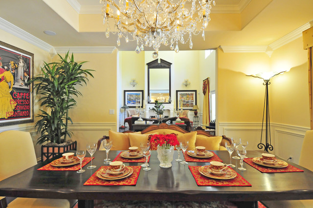 DESIGN/STAGING mediterranean dining room