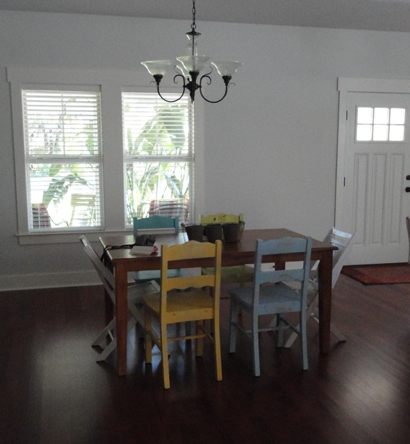 Eclectic Dining Room Sets: Different Colored Chairs In Dining Room