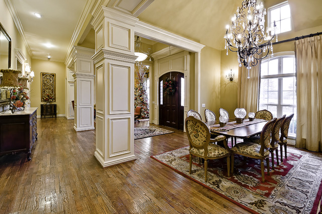 Dining and great hall traditional dining room little for Little rock custom home builders
