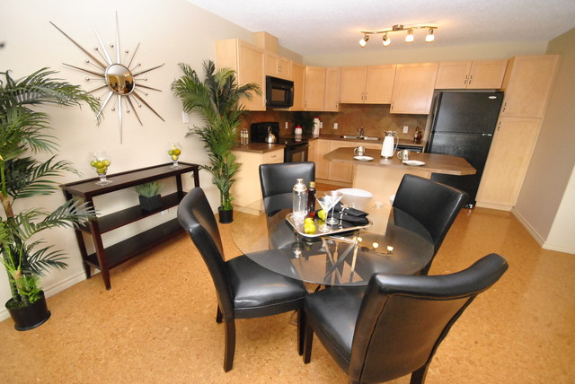 Dining area in 1 bedroom condo for sale in edmonton for Modern home decor edmonton