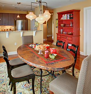 Tracey stephens interior design inc eclectic bathroom newark - Dining Area Luxury Condo Eclectic Dining Room
