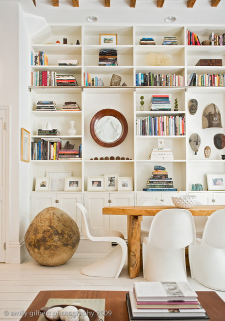 Dining Area Shelving Eclectic Room