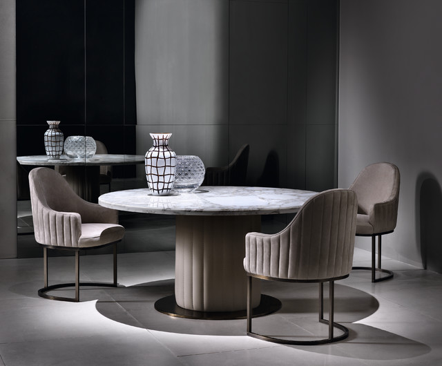 Luxurious Round Marble Dining Table, Luxury Round Table