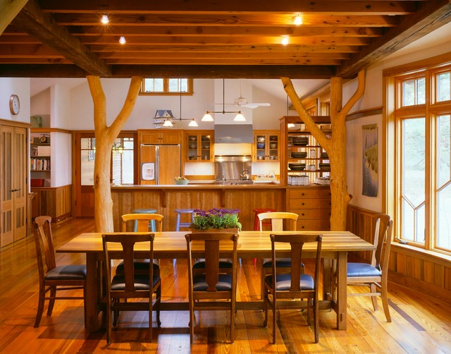 Dining Rustic Dining Room Boston By Brilliant