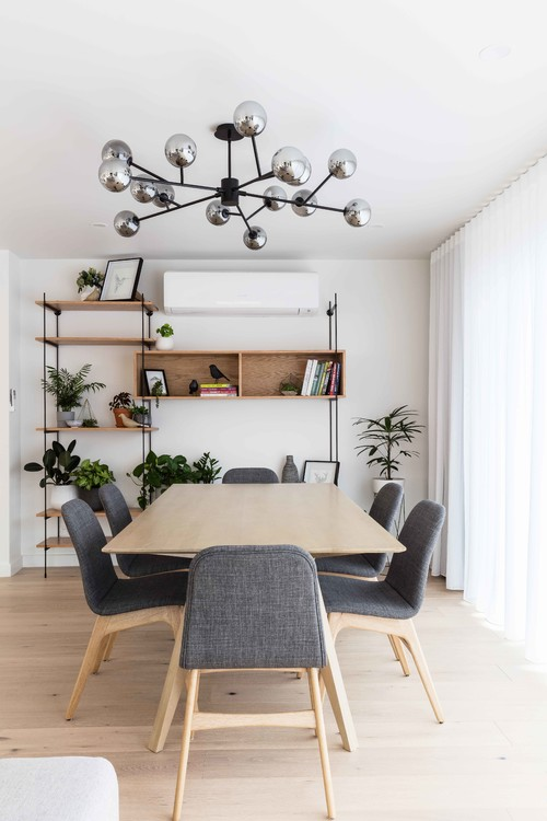 Place a new pendant light over the dining table for a modern update