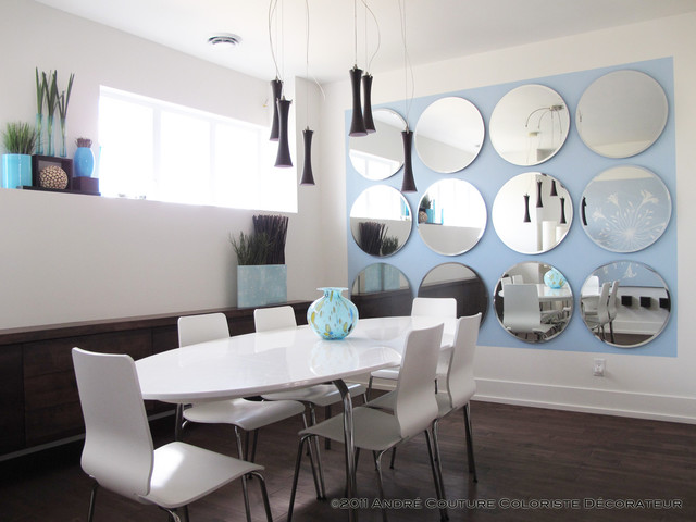 Dining in blue modern-dining-room