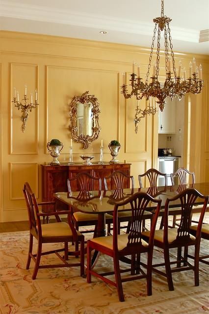 Red Dining Room Decor French Country