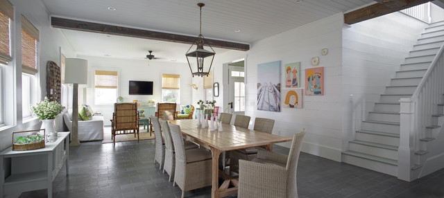beach style dining room by Joel Snayd