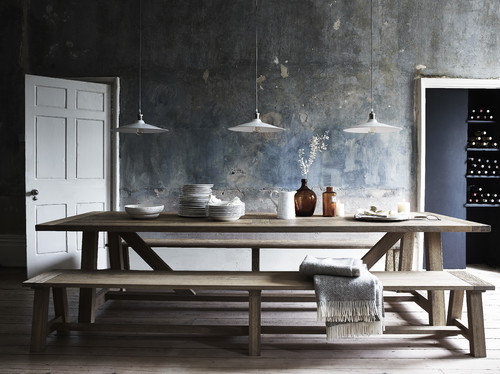 Raw wood rustic dining london