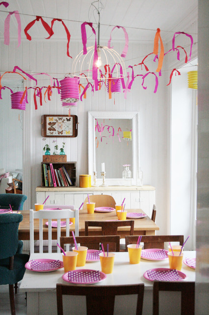 Dining room & birthday eclectic-dining-room